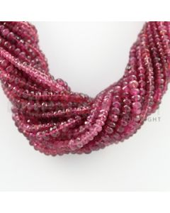 4.00 to 7.00 mm - 21 Lines - Tourmaline Faceted Beads Necklace - 18 inches (CSNKL1051)