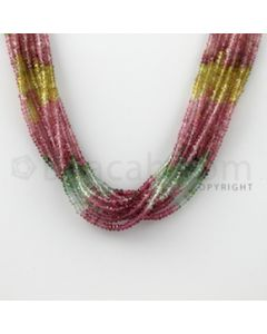 2.60 to 2.80 mm - 9 Lines - Tourmaline Faceted Beads - 14 inches (MuToFB1030)