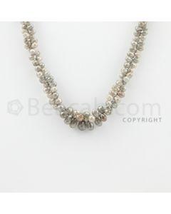 3.50 to 8.50 mm - 1 Line - Diamond Drop Beads - 15 inches (DiaDrp1004)