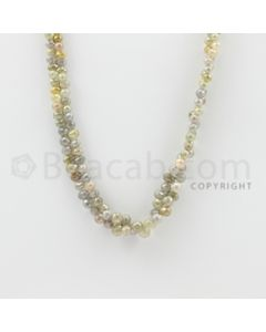 2.50 to 6.50 mm - 1 Line - Diamond Drop Beads - 22 inches (DiaDrp1006)