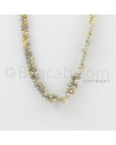2.50 to 6.50 mm - 1 Line - Diamond Drop Beads - 22 inches (DiaDrp1006)