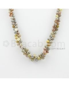 3.00 to 7.50 mm - 1 Line - Diamond Drop Beads - 15 inches (DiaDrp1007)