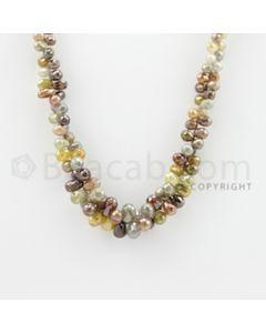 3.70 to 9.00 mm - 1 Line - Diamond Drop Beads - 16 inches (DiaDrp1008)