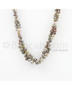 3.30 to 8.70 mm - 1 Line - Diamond Drop Beads - 14 inches (DiaDrp1009)