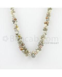 3.00 to 7.00 mm - 1 Line - Diamond Drop Beads - 21 inches (DiaDrp1010)