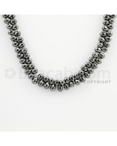 4.20 to 4.80 mm - 1 Line - Black Diamond Drop Beads - 16 inches (DiaDrp1013)