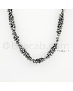 4.00 to 4.70 mm - 1 Line - Black Diamond Drop Beads - 15 inches (DiaDrp1014)