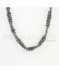 4.00 to 4.70 mm - 1 Line - Black Diamond Drop Beads - 15 inches (DiaDrp1014)