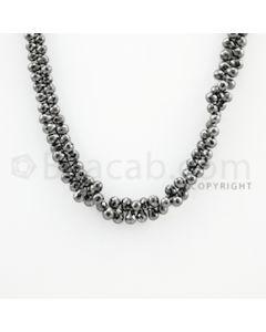 4.40 to 5.60 mm - 1 Line - Black Diamond Drop Beads - 13 inches (DiaDrp1015)