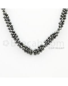 4.50 to 5.70 mm - 1 Line - Black Diamond Drop Beads - 10 inches (DiaDrp1018)
