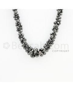 4.50 to 10.30 mm - 1 Line - Black Diamond Drop Beads - 22 inches (DiaDrp1019)