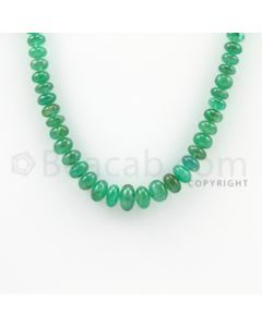 5.00 to 10.00 mm - 1 Line - Emerald Smooth Beads - 16 inches (EmSB1019)