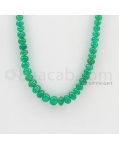 4.10 to 7.20 mm - 1 Line - Emerald Smooth Beads - 24 inches (EmSB1021)
