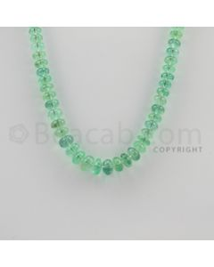 5.30 to 8.30 mm - 1 Line - Emerald Smooth Beads - 15 inches (EmSB1024)