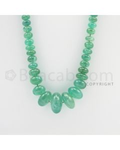 3.70 to 16.50 mm - 1 Line - Emerald Smooth Beads - 28 inches (EmSB1029)