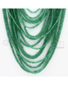 2.50 to 3.00 mm - 16 Lines - Emerald Smooth Beads - 21 to 30 inches (EmSB1037)