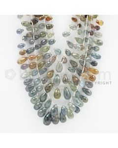 6.00 to 15.00 mm - 5 Lines - Multi-Sapphire Pear Drops - 18 to 22 inches (MSPD1010)