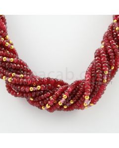 3.60 to 5.20 mm - 14 Lines - Spinel Faceted Beads Necklace - 17.50 inches (CSNKL1072)