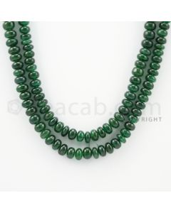 6.30 to 10.00 mm - 1 Line - Emerald Smooth Beads - 37 inches (EmSB1042)