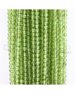 4.20 to 4.50 mm - 40 Lines - Peridot Smooth Beads - 15 inches (PSB1002)