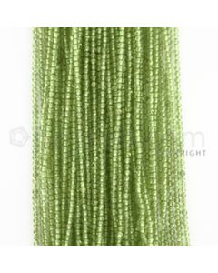 2.50 mm - 50 Lines - Peridot Smooth Beads - 15 inches (PSB1004)