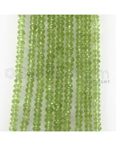 4.00 to 4.50 mm - 9 Lines - Peridot Faceted Beads - 14.25 inches (PFB1007)
