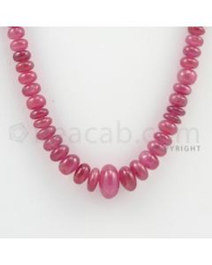 3.00 to 11.30 mm - 1 Line - Ruby Smooth Beads - 17 inches (RSB1039)