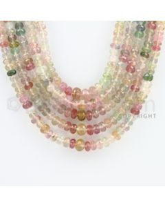 3.00 to 6.50 mm - 5 Lines - Tourmaline Faceted Beads - 18 to 21 inches (MuToFB1033)