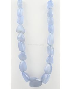 11 to 35 mm - 1 Line - Chalcedony Gemstone Faceted Tumbled Beads - 1455.45 carats (ChalFTuB1003)