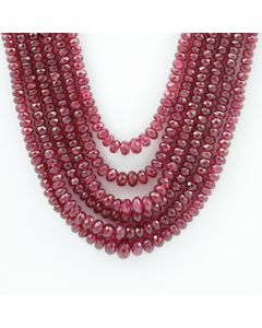 2.80 to 6.20 mm - 6 Lines - Ruby Gemstone Faceted Beads - 445.00 carats (RFB1083)