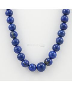 10 to 13 mm - 1 Line - Lapis Lazuli Gemstone Smooth Beads - 424.50 carats (LapisB1002)