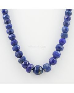 6.80 to 12.20 mm - 1 Line - Lapis Lazuli Gemstone Faceted Beads - 223.10 carats (LapisB1009)