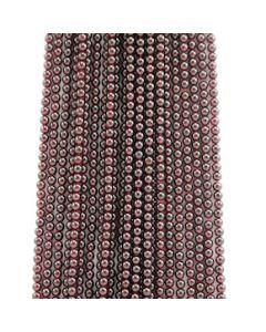 5 mm - 24 Lines - Garnet Gemstone Smooth Beads - 2532.00 carats (GarnB1002)