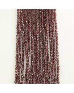 3.50 to 4 mm - 15 Lines - Garnet Gemstone Faceted Beads - 651.50 carats (GarnB1004)