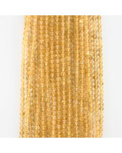 3.70 to 4.00 mm - 26 Lines - Citrine Gemstone Smooth Beads - 1041.00 carats (CitSB1004)