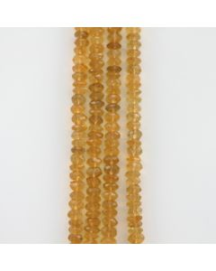 8 mm - 4 Lines - Citrine Gemstone Faceted Beads - 694.00 carats (CitFB1003)