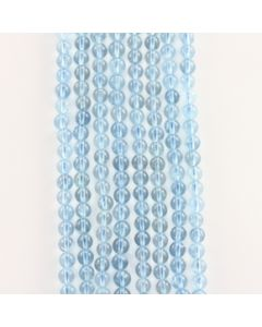 6.50 to 7 mm - 8 Lines - Aquamarine Gemstone Smooth Beads - 1044.00 carats (AqSB1001)