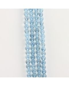 8 to 8.40 mm - 4 Lines - Aquamarine Gemstone Smooth Beads - 756.50 carats (AqSB1003)