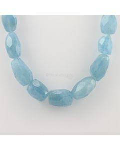 12.60 to 29 mm - 1 Line - Aquamarine Gemstone Faceted Tumbled Beads - 720.64 carats (AqFTub1002)