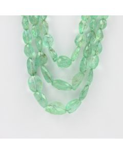 7 to 19 mm - 3 Lines - Emerald Gemstone Faceted Tumbled Beads - 493.00 carats (EmFTub1007)
