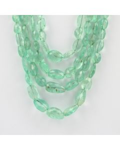 6.80 to 17.50 mm - 4 Lines - Emerald Gemstone Faceted Tumbled Beads - 431.00 carats (EmFTub1008)