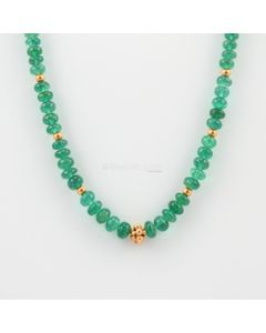 3.80 to 6 mm - 1 Line - Emerald Gemstone Smooth Beads - 98.26 carats (CSNKL1084)