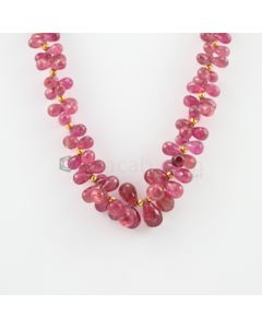 5 to 14 mm - 1 Line - Tourmaline Drop Necklace - 263.52 carats (CSNKL1095)