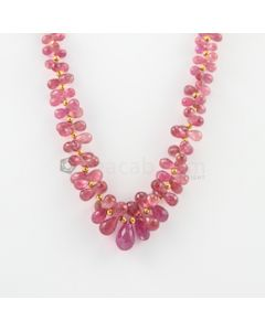 6 to 15 mm - 1 Line - Tourmaline Drop Necklace - 235.50 carats (CSNKL1096)