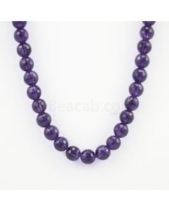 10.50 mm - Dark Purple Amethyst Faceted Beads - 272.00 carats (AmFB1005)