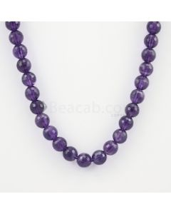 10.50 mm - Dark Purple Amethyst Faceted Beads - 277.50 carats (AmFB1006)
