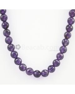 10.20 mm - Dark Purple Amethyst Faceted Beads - 277.50 carats (AmFB1007)