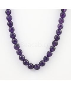 10.40 mm - Dark Purple Amethyst Faceted Beads - 278.50 carats (AmFB1014)