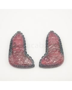 53 x 30 mm - Medium Pink Tourmaline Carving - 198.00 carats (ToCarv1015)
