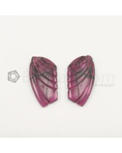 16 x 13 mm - Medium Pink Tourmaline Carving - 97.75 carats (ToCarv1038)